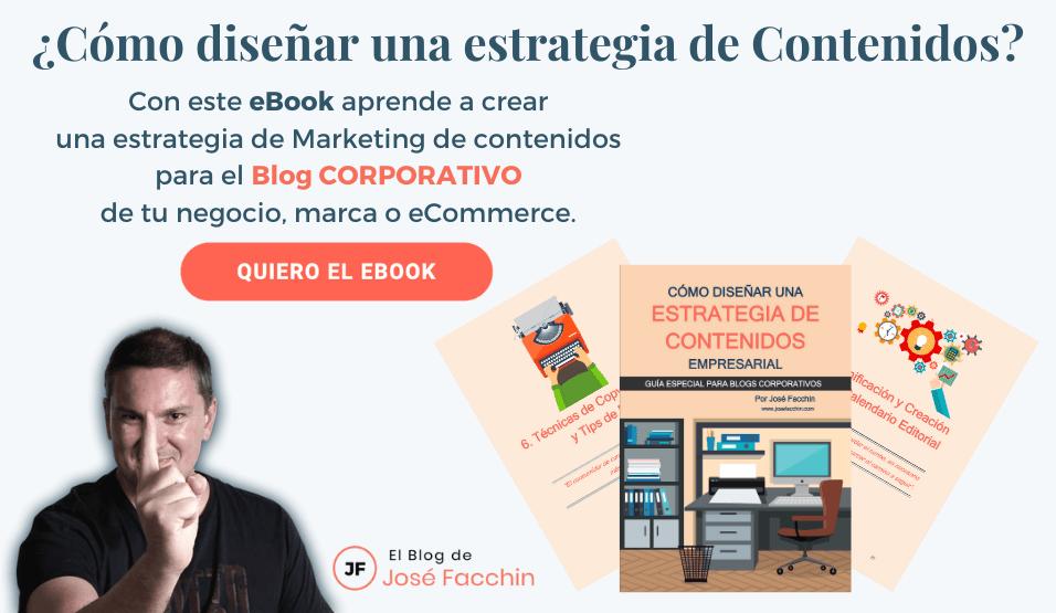 ¡Descarga mi eBook sobre Estrategia de Contenidos empresarial!