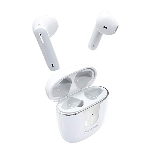 Tronsmart Onyx Ace Auriculares inalámbricos bluetooth 5.0, TWS In-Ear Earbuds con 4 micrófonos, Cancelación de Ruido CVC 8.0, audio Qualcomm aptX, 24H Reproducción, asistente de voz-Blanco