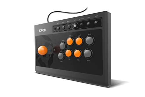 Krom Kumite - NXKROMKMT - Gamepad Arcade Multiplataforma, Fighting Stick, compatible PC, PS3, PS4 y XBOX One