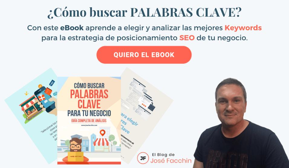 ¡Descarga mi eBook sobre análisis de Palabras Clave!