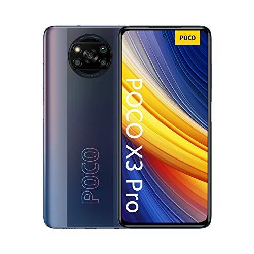 """Xiaomi POCO X3 Pro, Smartphone 8+256 GB, 6,67"""" 120 Hz FHD+ DotDisplay, Snapdragon 860, cámara cuádruple de 48 MP, 5160 mAh, Negro Fantasma (versión ES/PT), incluye auriculares Mi"""
