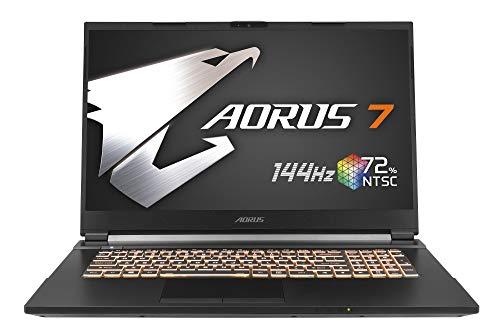 "Gigabyte AORUS 7 KB-7ES1130SD - Ordenador portátil de 17.3"" FHD 144Hz ( Intel Core i7-10750H, 16GB RAM, 512GB SSD, Nvidia RTX2060-6GB, Sin sistema operativo) negro - teclado QWERTY Español"