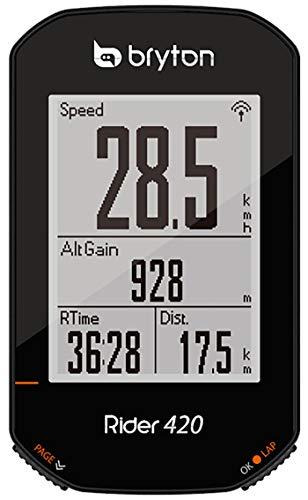 Bryton Rider 420 E Ciclocomputador GPS, Sin género, Negro, Talla Única