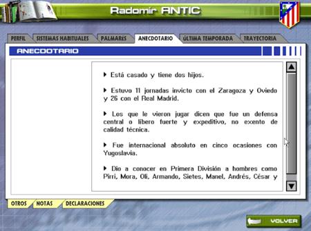 Anecdotario de Radomir Antic, ya fallecido y entonces entrenador del Atlético del doblete.