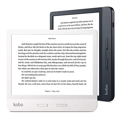 Kobo - Ereader - Kobo Libra H2O, 7 HD, 8 GB, Comfortlight Pro, Ipx8, Botones Laterales, Blanco