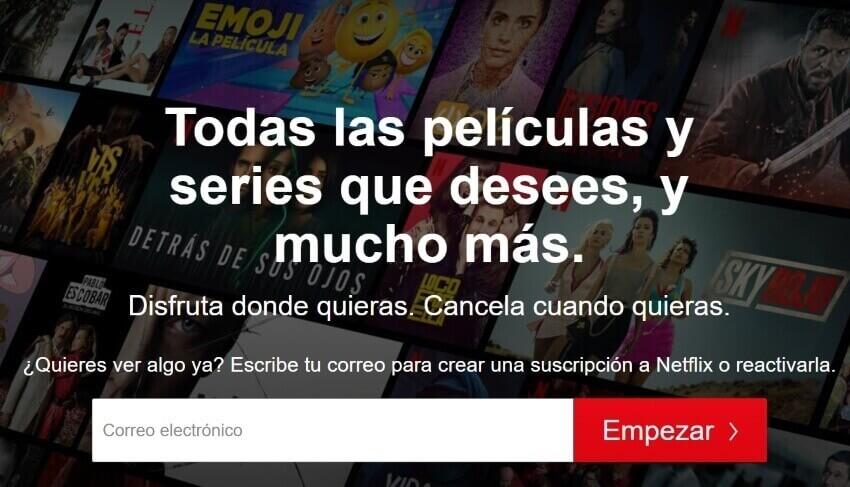 Ejemplo de propuesta de valor: Netflix