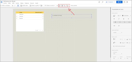 Añadir elementos en Data Studio
