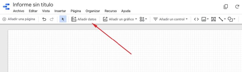 Añadir datos al informe de Data Studio