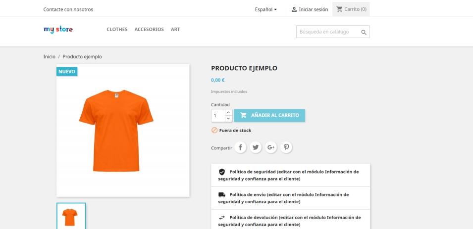 PrestaShop vista previa producto