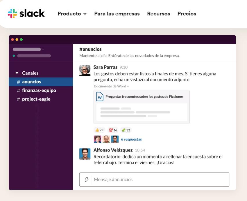 Gestión de equipos y proyectos con Slack