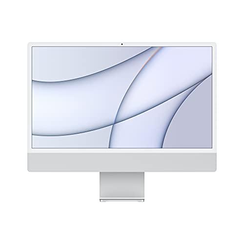 2021 Apple iMac (de24Pulgadas, Chip M1 de Apple con CPU de Ochonúcleos yGPU deSietenúcleos, Dos Puertos, 8GB RAM, 256 GB) - Plata