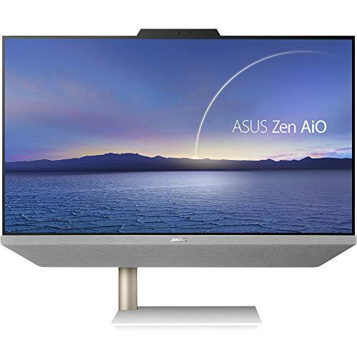 ASUS Zen AiO 24 M5401WUAK-WA139T - Ordenador de sobremesa Todo en uno con Monitor LCD de 23,8 Pulgadas FHD Anti-Glare, AMD Ryzen 3 5300U, RAM 8 GB DDR4, 256 GB SSD PCIE, Windows 10 Home, Blanco