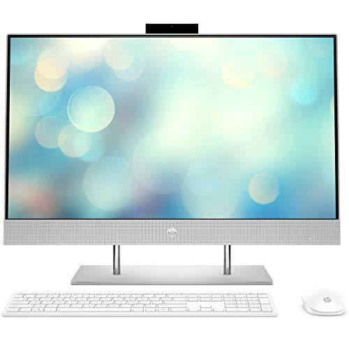 "HP Computers All-in-One 27-dp1002ns - Ordenador de sobremesa 27"" Full HD (AMD Ryzen 7-4700U, 16 GB RAM, 1TB SSD, Gráfica AMD Radeon, sin sistema operativo ) color plata"