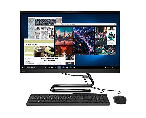 """Lenovo IdeaCentre AIO 3 - Ordenador de Sobremesa Todo en uno (Pantalla de 27"""" QHD,Procesador Intel Core i3-10100T,512GB SSD,RAM 8 GB,Sin Sistema Operativo) Ratón y Teclado QWERTY Español USB, Negro"""